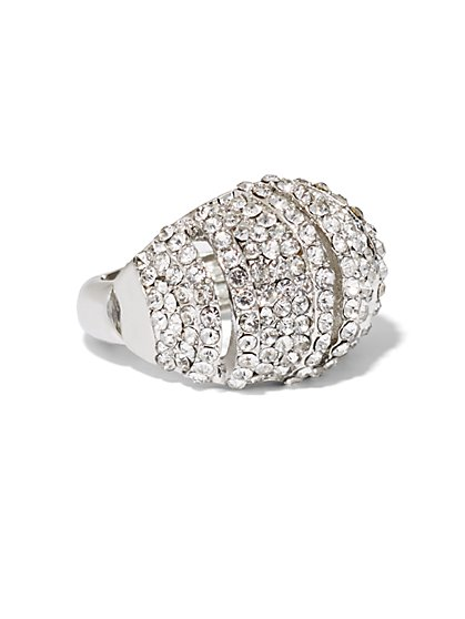 Pavé Dome Cocktail Ring  - New York & Company