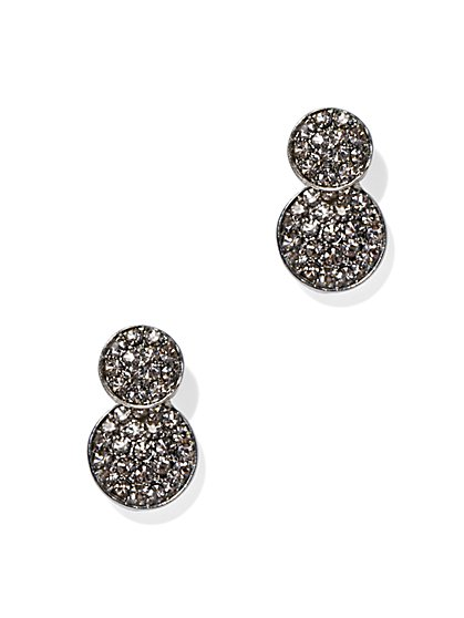 Pavé Double Disc Earring  - New York & Company