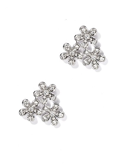 Pavé Floral Earring  - New York & Company