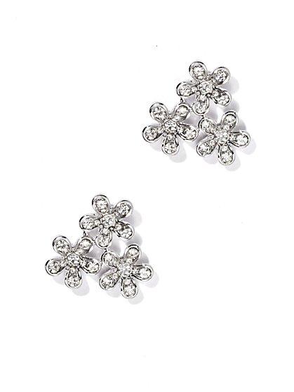 Pavé Floral Earring  - New York & Company