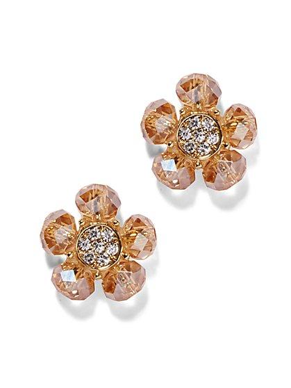 Pavé Floral Post Earring  - New York & Company