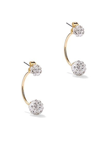 Pavé Front/Back Earring  - New York & Company