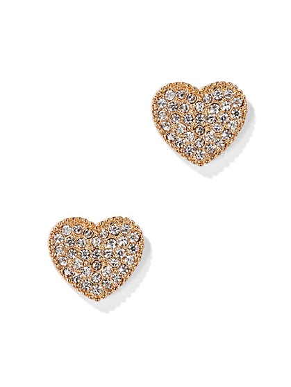 Pavé Heart Earring  - New York & Company