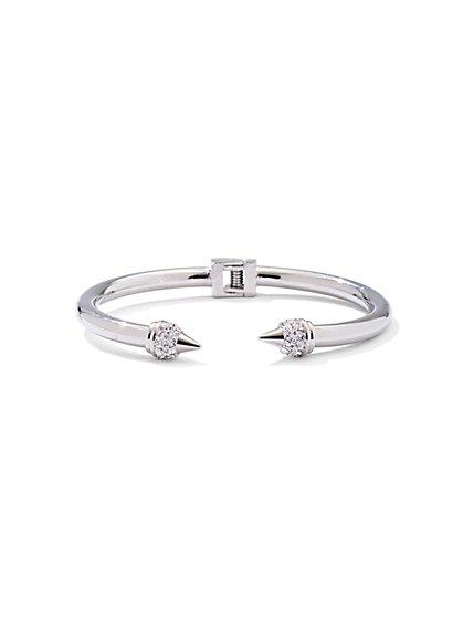 Pavé Hinge Cuff Bracelet  - New York & Company