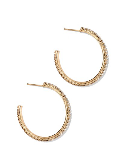 Pavé Hoop Earring  - New York & Company