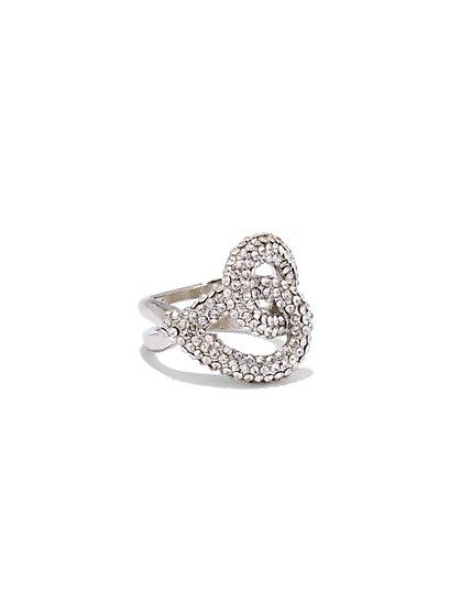 Pavé Knot Ring  - New York & Company