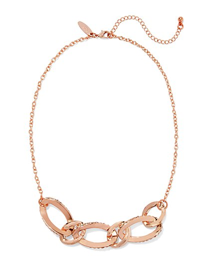 Pavé Link Necklace  - New York & Company