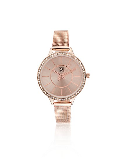 Pavé Mesh Watch  - New York & Company