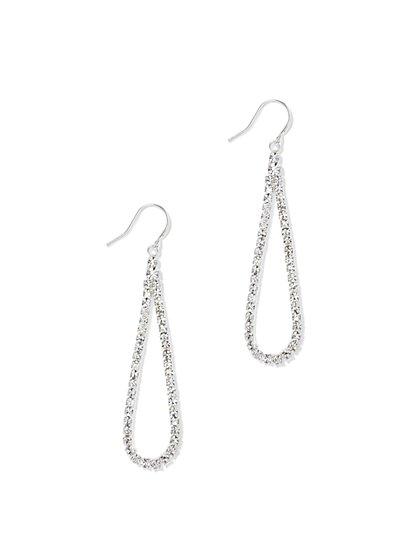 Pavé Open Teardrop Earring  - New York & Company