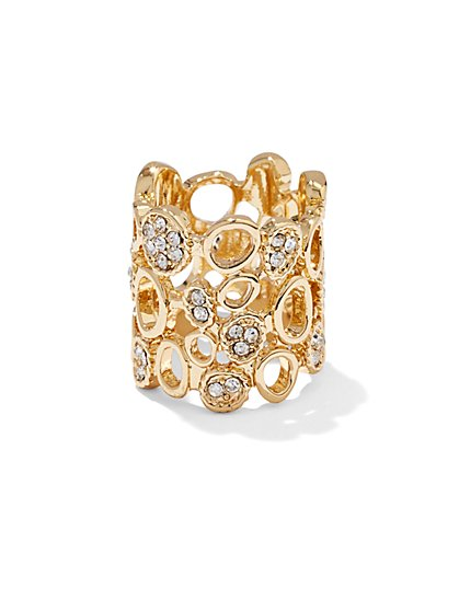 Pavé Openwork Ring  - New York & Company