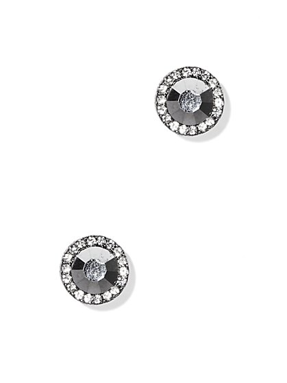 Pavé Outline Post Earrings  - New York & Company