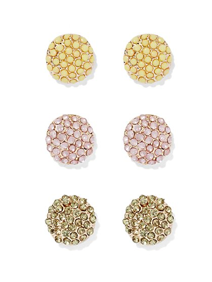 Pavé Post Earring Set  - New York & Company