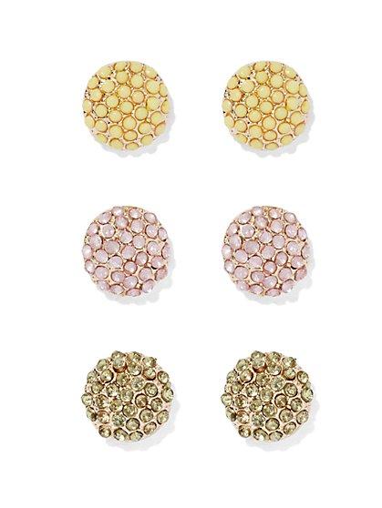 Pavé Post Earring Set  - New York & Company