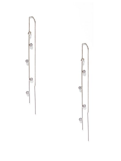 Pavé Pull-Through Earring  - New York & Company
