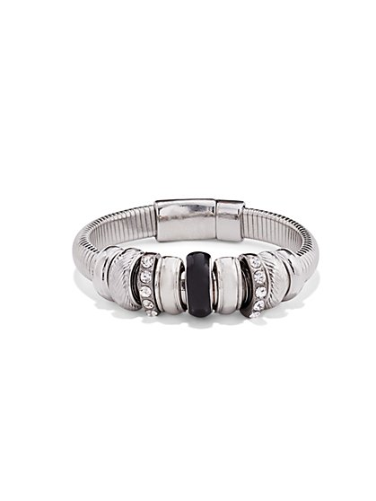 Pavé & Rondelle Stretch Bracelet  - New York & Company