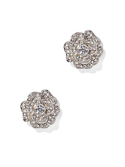 Pavé Rose Earring - New York & Company
