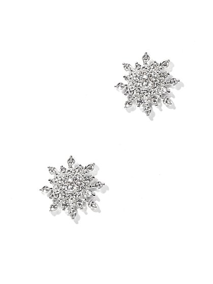 Pavé Snowflake Post Earring  - New York & Company