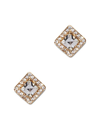 Pavé Square Post Earring - New York & Company