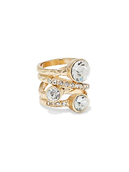 Pavé Stacked Ring Set  - New York & Company
