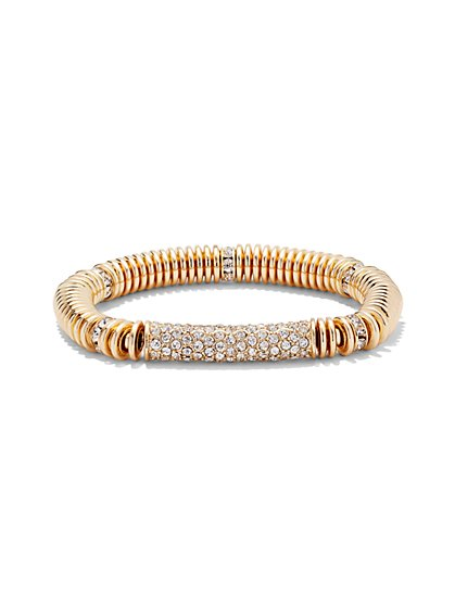 Pavé Stretch Bracelet  - New York & Company