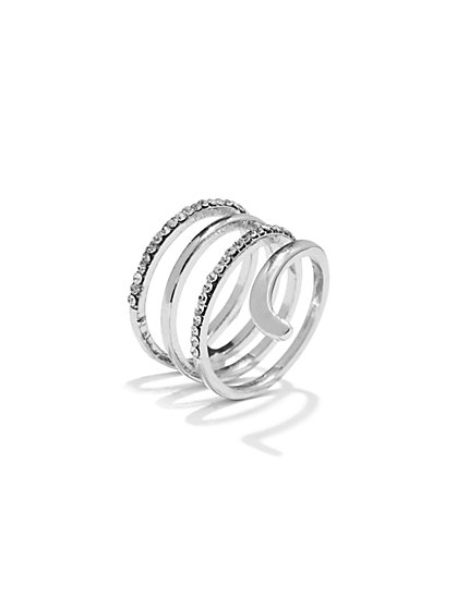 Pavé Swirl Ring  - New York & Company