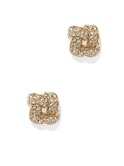 Pavé Woven Post Earring  - New York & Company