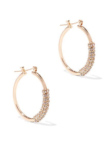 Pavé Wrap Hoop Earring  - New York & Company