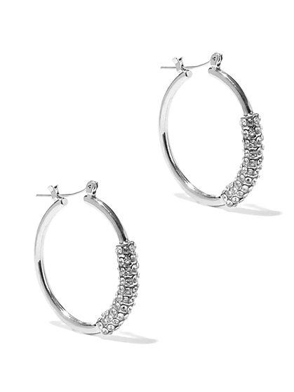 Pavé Wrap Hoop Earring  - New York & Company