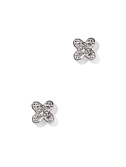 Pavé X-Shaped Post Earring   - New York & Company