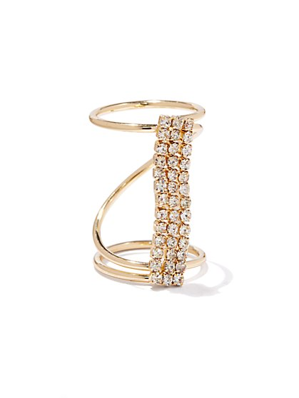 Pave-Bar Knuckle Ring - New York & Company