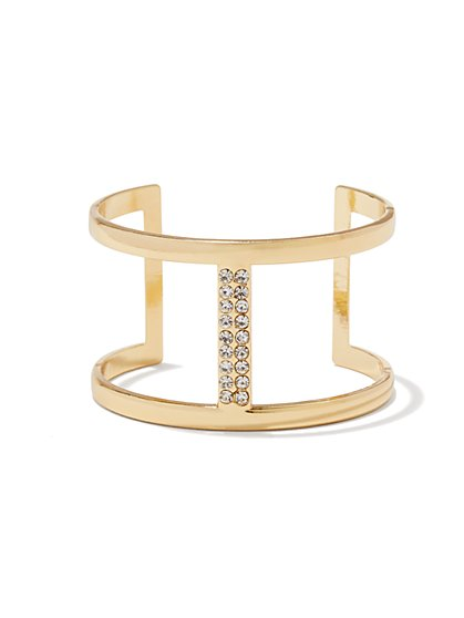 Pave Bar Open-Cuff Bracelet  - New York & Company