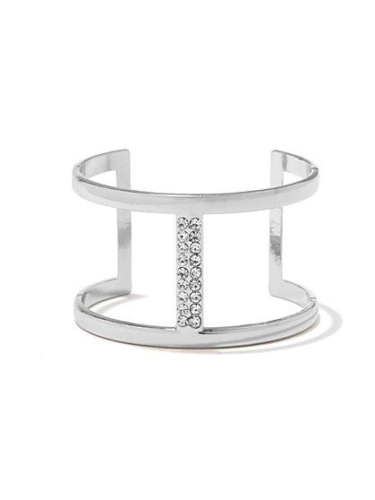 Pave Bar Open-Cuff Bracelet  - New York & Company