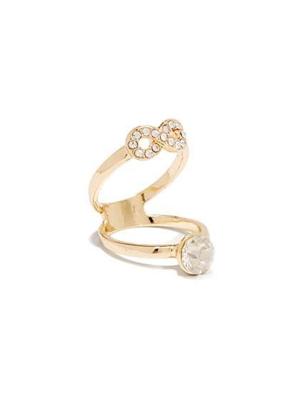 Pave-Charms Double Ring - New York & Company