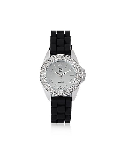 Pave Dial Round Watch - New York & Company