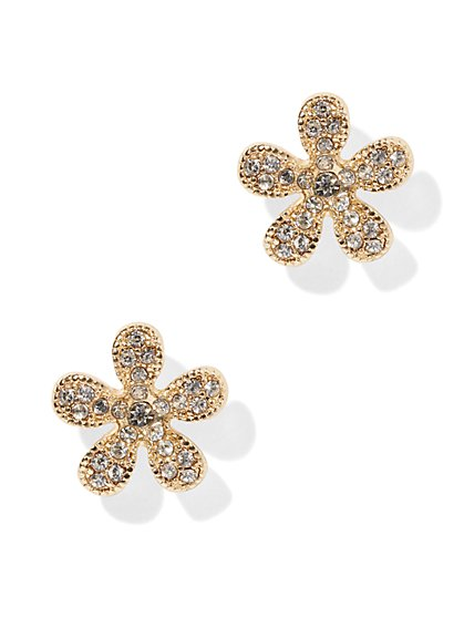Pave Floral Post Earring - New York & Company