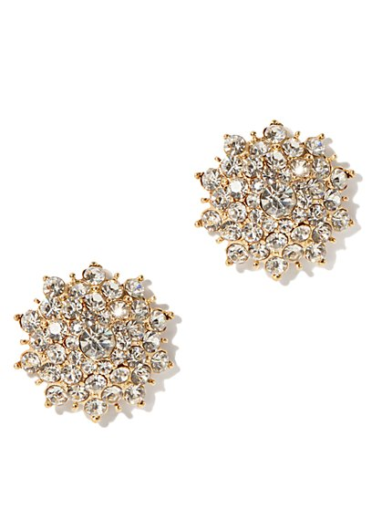 Pave Flower Stud Earring - New York & Company