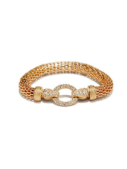 Pave-Link Mesh-Chain Bracelet - New York & Company