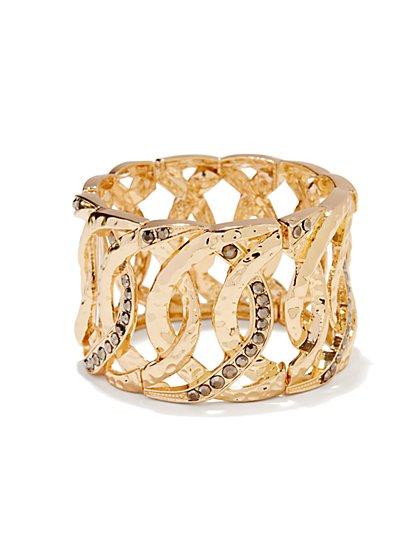 Pave Links Stretch Bracelet