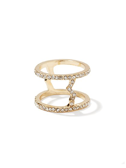 Pave Open Double Ring - New York & Company