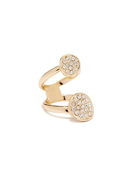 Pave Stacked Ring