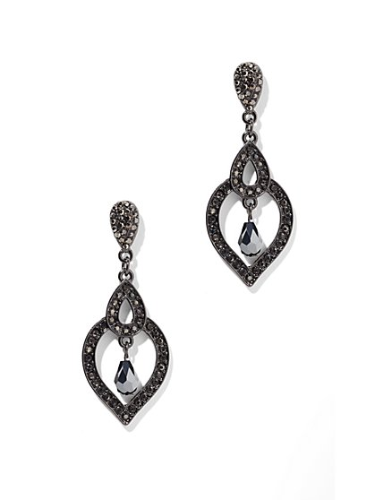 Pave Teardrop Dangle Earring - New York & Company