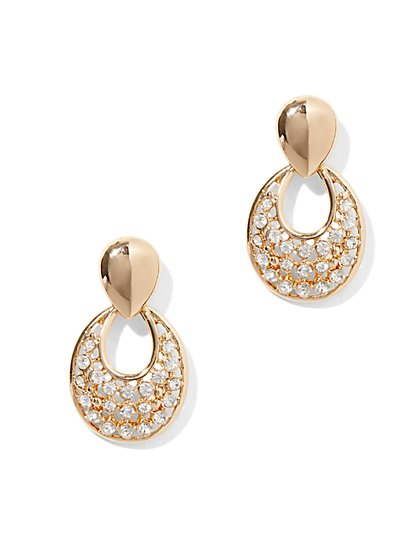 Pave Teardrop Post Earring - New York & Company