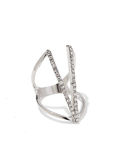 Pave V-Shape Ring  - New York & Company
