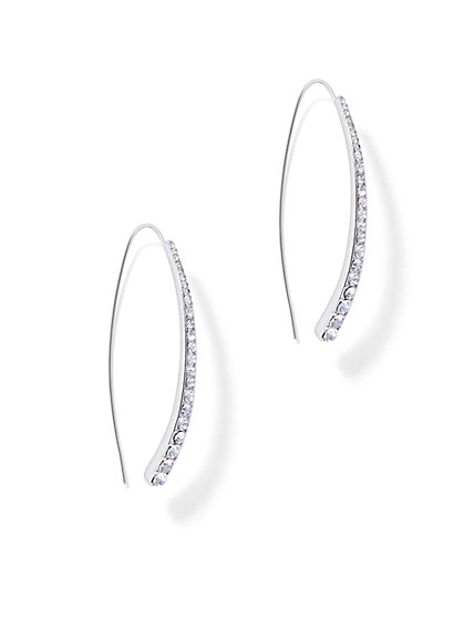 Pave Wishbone Drop Earring  - New York & Company