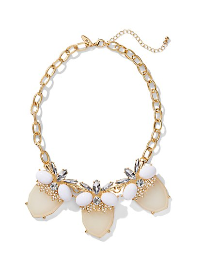Peach Pendant Collar Necklace  - New York & Company
