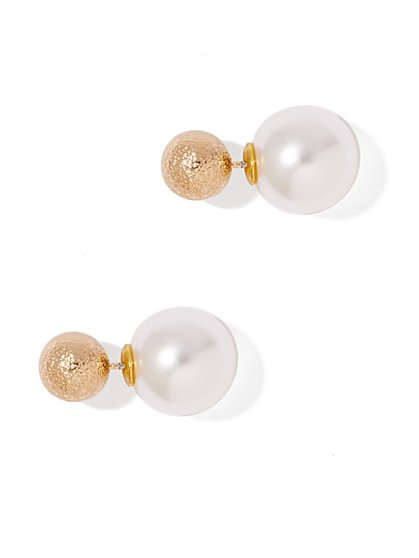 Pearl & Bead Stud Earring - New York & Company