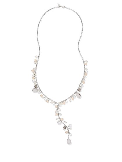 Pearl & Beads Y Necklace  - New York & Company