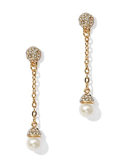 Pearl & Chain Earring - New York & Company