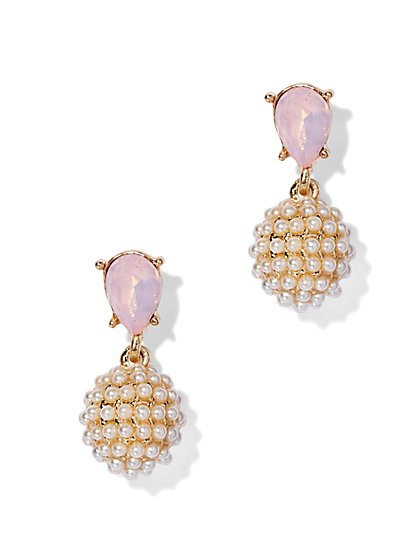 Pearl Cluster Drop Earring  - New York & Company