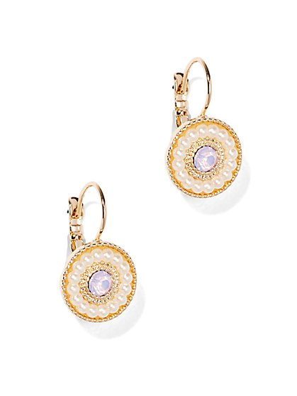 Pearl Disc Earring  - New York & Company